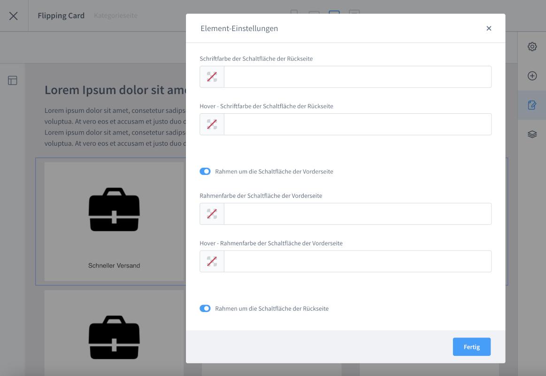 Drehendes Element / Flipping Card für eine Erlebniswelt (mit frei definierbarem Text uvm.)